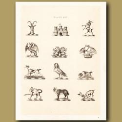 Heraldry 25: Basilisk, Lion, Puma etc