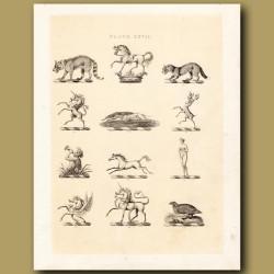 Heraldry 27: Unicorn, Triton, Venus etc