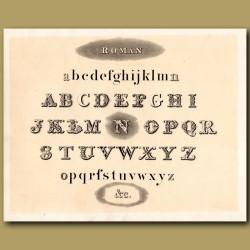 Example of Roman font