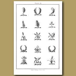 Palm branch, Pine branch,Laurel garland
