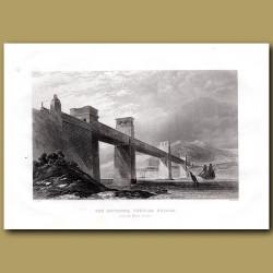 The Britannia Tubular Bridge Over The Menai Straits, Wales