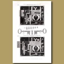 Lock. The American Permutating Lock