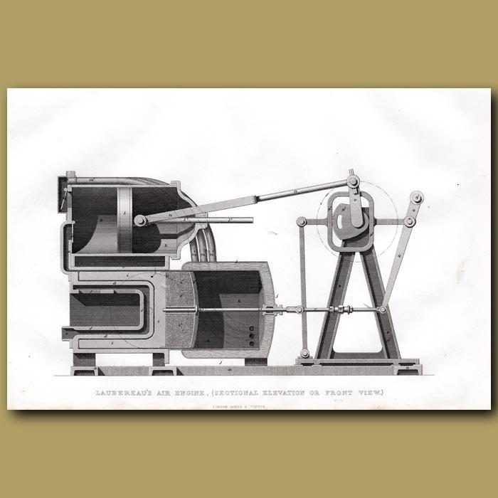 Antique print. Laubereau's Air Engine