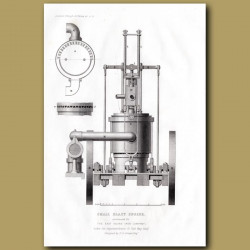 Small Blast Engine Constructed For The East Indian Iron Company
