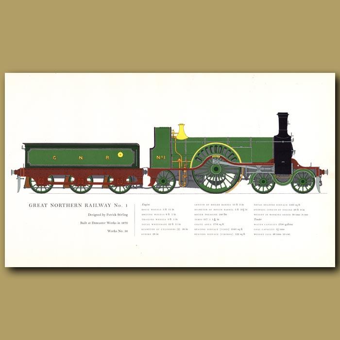 Antique print. Great Northern Railway No.1 Train