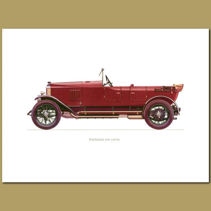 Antique print. Vauxhall 1924 30-98