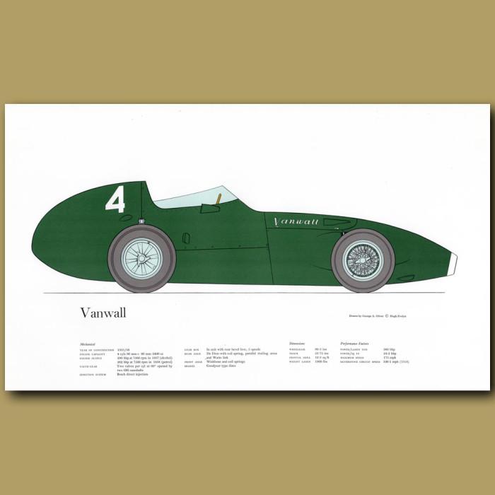 Vintage car print. Vanwall