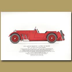 1933 Aston Martin 1.5 litre 'Le Mans'