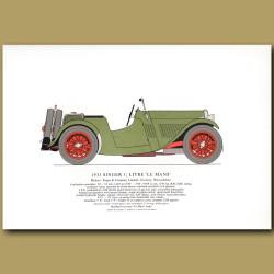 1933 Singer 1.5 litre 'Le Mans'