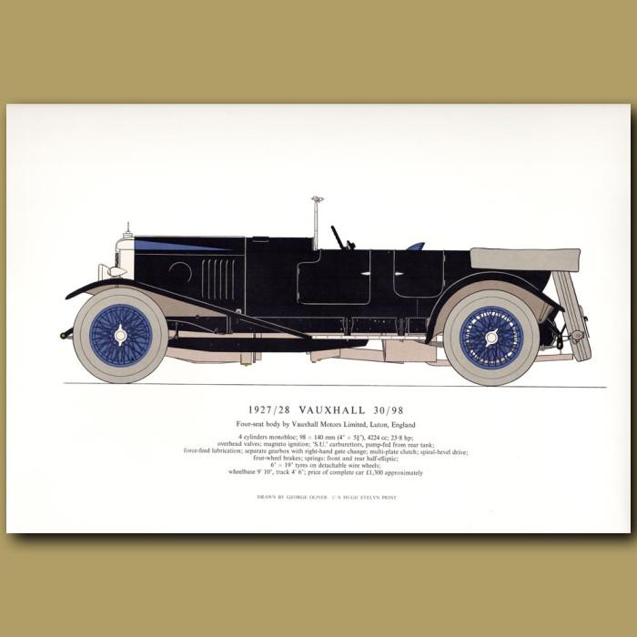 1927/28 Vauxhall 30/98