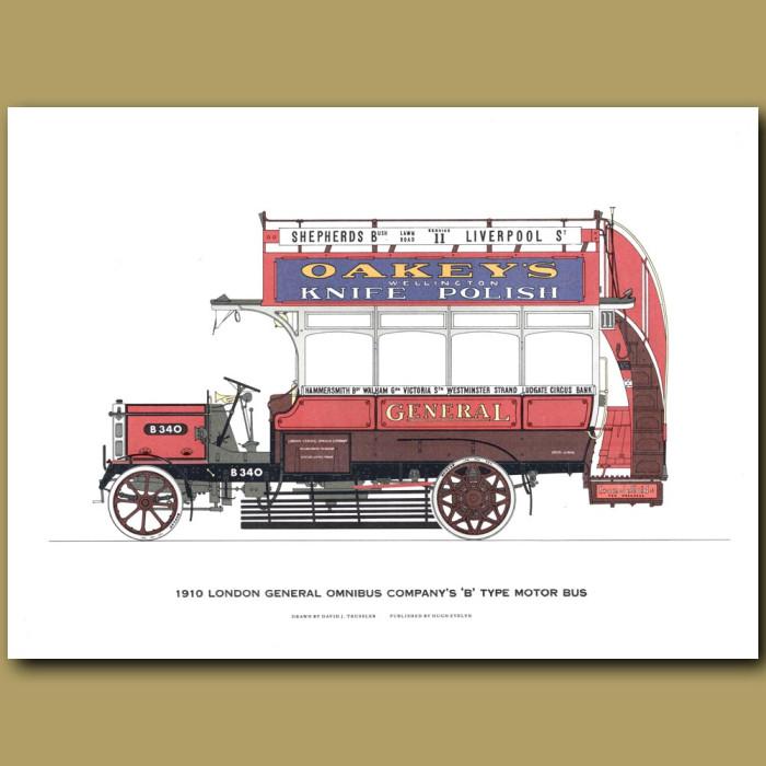 1910 London General Omnibus Capany's B type Motor Bus