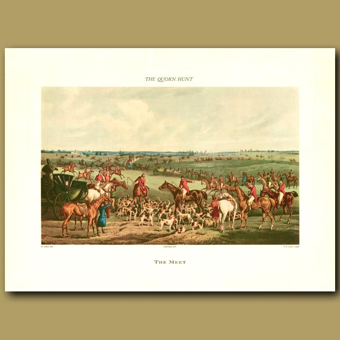 Antique print. The Meet By Henry Alken