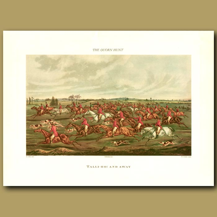 Antique print. Tally-Ho! And Away By Henry Alken