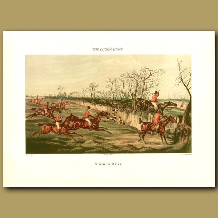 Antique print. Snob Is Beat By Henry Alken