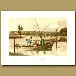 Fishing In A Punt By Henry Alken
