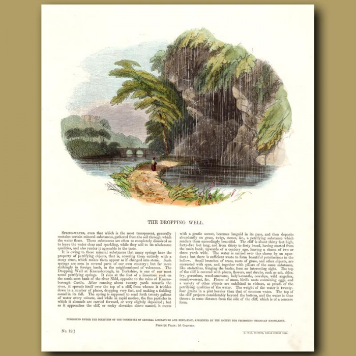 The Dropping Well: Genuine antique print for sale.