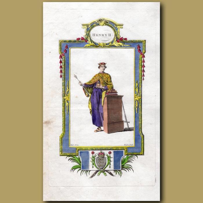 King Henry II: Genuine antique print for sale.
