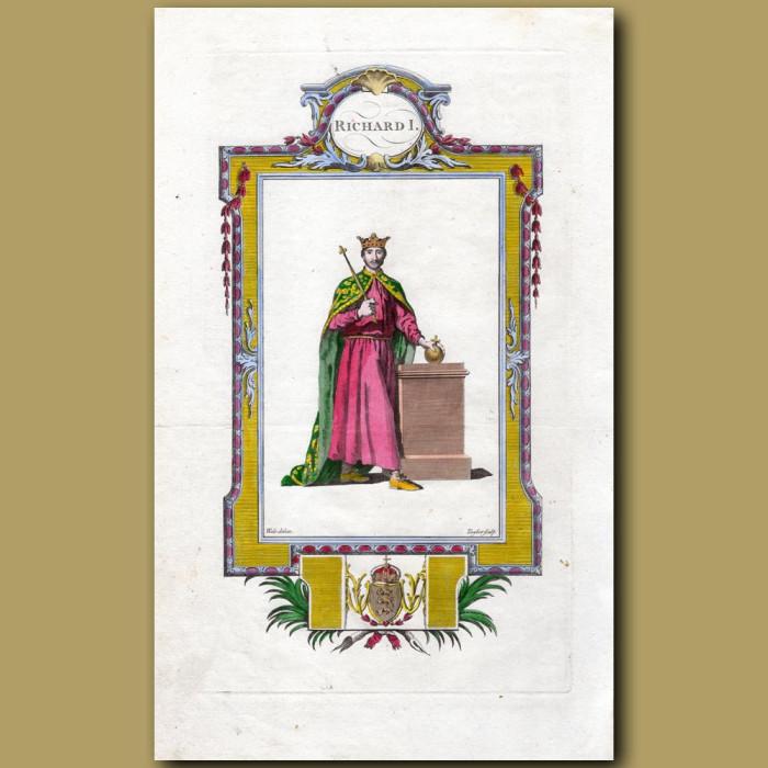 King Richard I: Genuine antique print for sale.