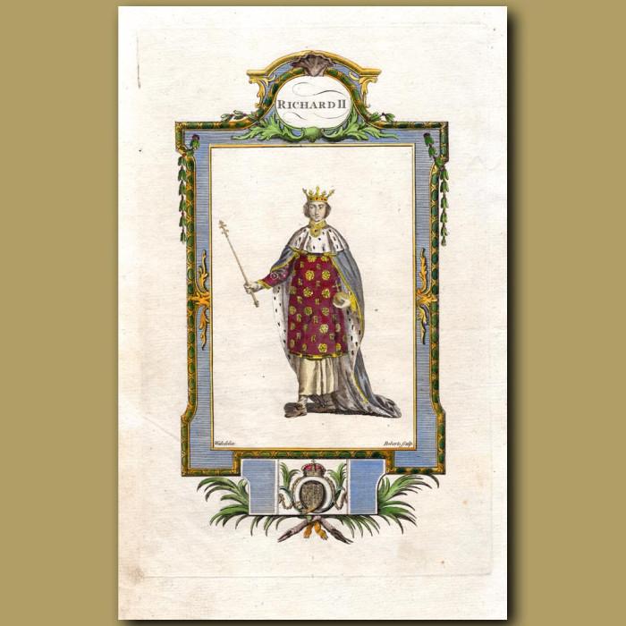 King Richard II: Genuine antique print for sale.