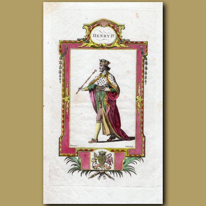 King Henry IV: Genuine antique print for sale.