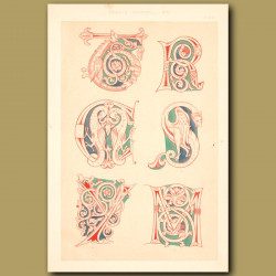 Twelfth Century No. 3. Letters From English Illumnated Manuscript