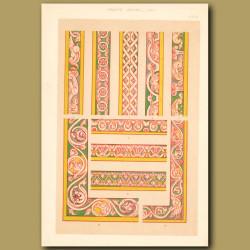 Twelfth Century No. 4. Ornamental Borders From English Manuscript
