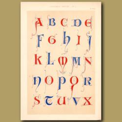 Thirteenth Century No. 1. English Alphabet From Arundel Church Canons