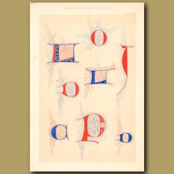Fourteenth Century No. 4. Letters L,D,O,T,C,P And D