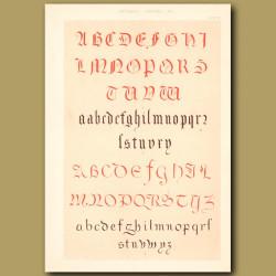 Fifteenth Century No. 1. English Alphabets From British Museum