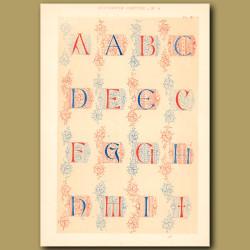 Fifteenth Century No. 4. English Alphabet From British Museum (part 1)