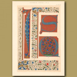 Fifteenth Century No. 11. Various Initial Letters And Borders