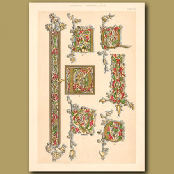Fifteenth Century No. 18. Various Initial Letters And Borders