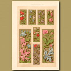 Sixteenth Century No.3. Decorative Floral Borders