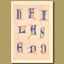 Sixteenth Century No.9. Various Initial Letters (H,L,P,D,E,S,I Etc)