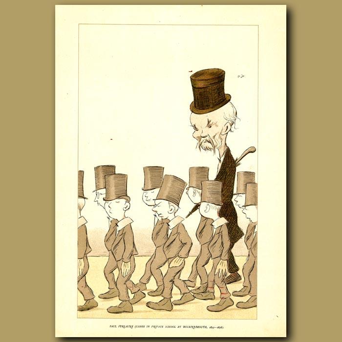 Antique print. Paul Verlaine