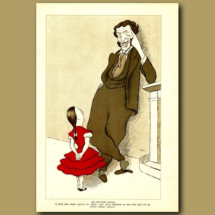 Antique print. Mr Matthew Arnold