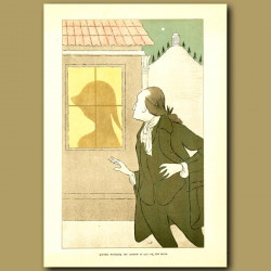 Goethe, watching the shadow of Lili on the blind