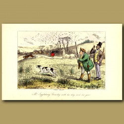 Mr Jogglebury Crowdey with his dog and his gun