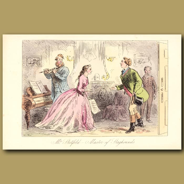 Antique print. Mr. Stotfold- Master of Staghounds