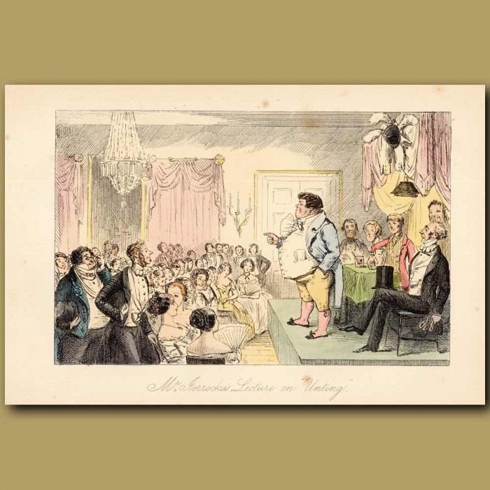 Antique print. Mr Jorrocks's Lecture on 'Unting
