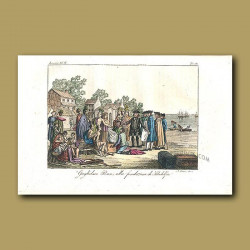 William Penn, founder of the city of Philadelphia, meeting native Indians