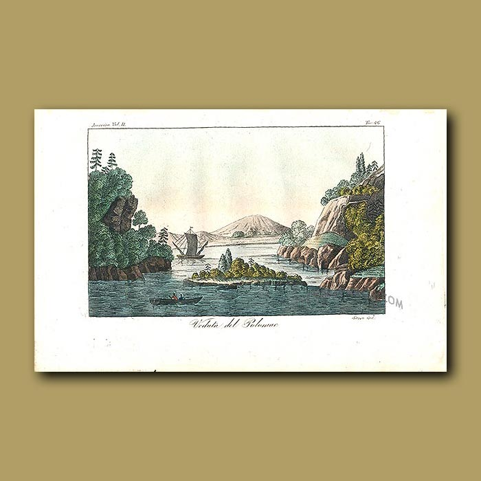 Antique print. View of the Potomac River