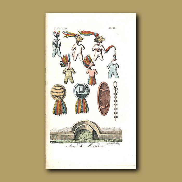 Antique print. Mexican outfits