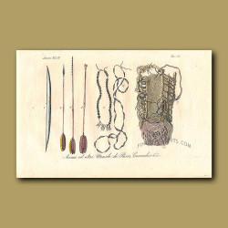 Hunting utensils from Brazil