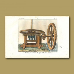 Water wheel powered machine for extracting sugar from sugar canes