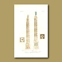 Trajan's Column and Antonia Column (named for Marcus Aurelius)