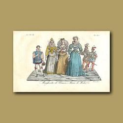 Margaret - Queen of France and Maria de Medici - Queen consort of Henry IV a.d 1600