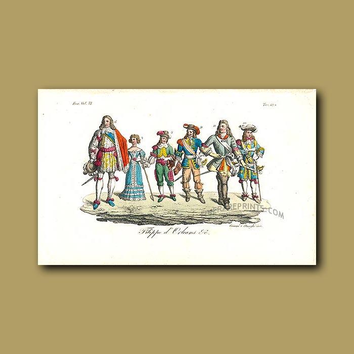 Antique print. Phillip IV of France