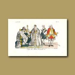Louis XV and his Queen consort Maria Leszyznska  - a Polish princess a.d 1710 to a.d 1774