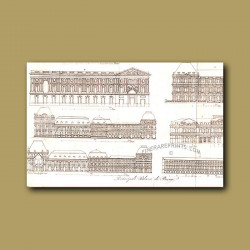 Main Palaces in Paris a.d 1820